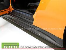 V Style Carbon Fiber Side Skirts Panel Lip For Nissan GT-R GTR R35 2009-2012