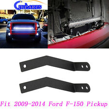 30inch Single Row LED Light Bar Hidden Grille Mount Bracket For 09-14 Ford F150