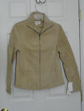 AUTHENTIC LADIES BOSTON HARBOUR SUEDE JACKET SIZE SMALL NWT MSRP $99