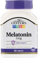 NEW! 21st Century 3 Mg 90 Tablets Relaxation And Sleep Support