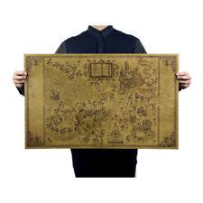Map Wizarding World Harry Potter Around Big Movie 51*32.5cm Classic Poste