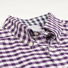 Brooks Brothers Hemd Gr XL Slim Fit CLASSIC Lila Purple Plaid HERBST #Menswear
