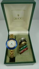 LADIES GUCCI WATCH  W/6 INTERCHANGEABLE BEZELS,  BOX- REDUCED PRICE!