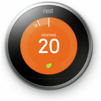 NEST Learning Thermostat - 3rd Generation- Smart Home Automation Silver