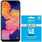 Net10 Samsung Galaxy A10e 4g Lte Prepaid Cell Phone W/ $40 Airtime Plan Included