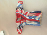 VTG Fashion Doll Clothes Dress Up Blouse Tops Red Barbie Stripes Set of 3