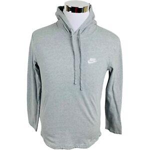 Nike Gray Long Sleeve Hoodie Shirt Men's Medium M