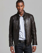 BOSS HUGO BOSS Neldo Waxy Leather MENS Jacket SIZE XL  46 R