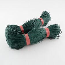 Verde Oscuro Cordón De Algodón Encerado 10 metros X 1 mm Shamballa Macramé fabricación de joyas