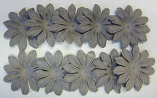 10 Mulberry Paper Flowers 6cm Scrapbooking & Craft Embellishments Aubergine