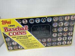 1990 Topps Baseball Coin Set - 60 Coins With Holder New and Factory Sealed