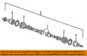 FORD OEM Front Drive Axle-Shaft & Joint Assembly F7CZ3B436AA
