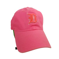Detroit Tigers Hat   PINK D Logo on Pink  New Era 9Forty Strapback Cap    Womens