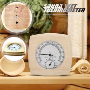 2 in 1 Wood Sauna Thermometer Hygrometer Sauna Room Equipment Sauna Meter UK