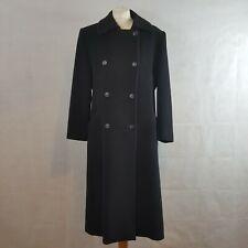JOBIS Womens Coat Black UK 10 Angora Wool Cashmere Luxurious Double Breasted