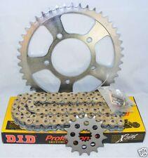 SUZUKI SV650 02-06 DID GOLD X-RING Chain and Sprocket set kit 3603441X
