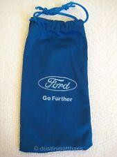 New Ford Motor Company Sunglasses Soft Case Blue Sun Eye Glasses Bag Cars Trucks