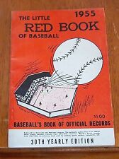 The Little Red Book of Baseball 1955   Baseball's Book of Official Records
