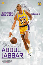 LIBRO BOOK N°18 KAREEM ABDUL-JABBAR LE STELLE DELLA NBA AI RAGGI X LAKERS