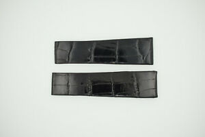 ROLEX Watch Strap for Deployment Clasp NEW Black 19/16 19mm (SO638)