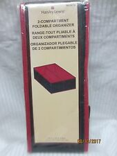 """(2) Harvey Lewis 2-Compartment Organizer by Hld Global Limited Pink 7.5""""x12""""x5"""" ;"""