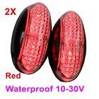 2X 12V 24V Waterproof Red Clearance Lights Side LED Marker for Trailer Truck Bus