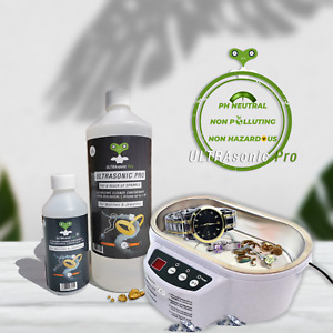 Concentrate 1L ULTRAsonic Pro Jewellery Cleaner Fluid Solution Watches Coins
