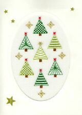 Bothy Threads Cross Stitch Card Kit - Christmas Forest