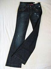 Replay señora blue jeans golpe Stretch w27/l34 low waist slim fit Flare leg
