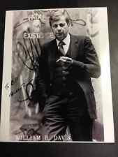 William B. Davis X-Files Smoking Man Autographed 8x10 Picture with Lifetime COA