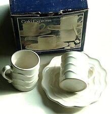 Creative Home Espresso Cappuccino Cup & Saucer 8pcs Stoneware Demi Tazze Set