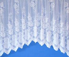 "Sally Jardiniere Net Curtain in White 100"" X 54"""