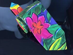 Mens Banana Republic Safari & Travel Clothing Co. 100% Cotton Vintage Floral Tie