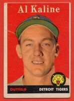 1958 Topps #70 Al Kaline VG-VGEX WRINKLE HOF Detroit Tigers FREE SHIPPING