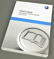 Volkswagen VW Golf GTI GTD GTE, Owners manual, English edition 8.2014