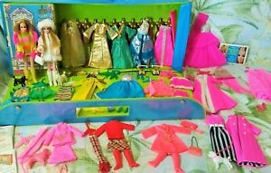 Dawn Doll Lot ~ Dolls Clothes Case Poodles Shoes Boots Purses Telephone Stands +