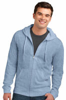 District Boy's Young Men's Lightweight Full Zip Long Sleeve Hoodie. DT1100