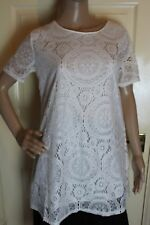 Heramay Large Short sleeve white lined lace top