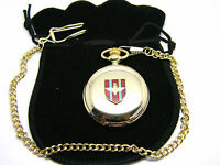 THE PARACHUTE REGIMENT PARAS BADGE POCKET WATCH & CHAIN ARMY MILITARY GIFT