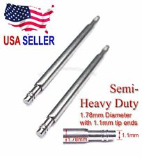 19mm 20mm 22mm Semi-Heavy 1.78mm Spring Bar w/ 1.1mm End for Seiko Citizen Diver