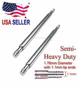 19mm 20mm 22mm 24mm Semi-Heavy 1.78mm / 1.1mm Spring Bar for Seiko Citizen Diver