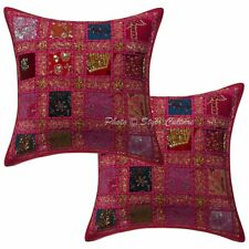 Cotton Geometric 40x40 cm Patchwork Embroidered Sequins Throw Pillow Covers