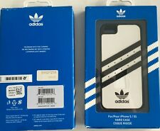 Genuine Adidas Moulded Hard Shell Case Cover for Apple iPhone 5 5S SE - White