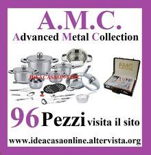AMC BATTERIA PENTOLE 99 PEZZI  ACCIAIO INOX 18/10  CERTIFICATO