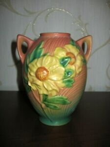 ROSEVILLE VASE - Peony Design - 1942 - Exceptional, Mint