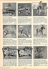1953 ADVERT Keystone Tru Matic Ride On Em Toy Truck Dump Tractor Bulldozer Loco