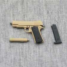 "1/6 Scale Sand Color Assembling  M1911 Weapon Model For 12"" Solider Figure Toy"