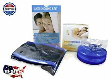 Stop Snoring Chin Strap SNORE BELT & Snoring Mouthpiece Guard COMBO Apnea Sleep
