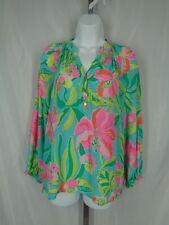 e8a136e276376 Lilly Pulitzer Elsa Blouse Size XS Floral Silk