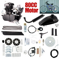 80cc 2-Stroke Bicycle Gasoline Engine Motor Kit DIY Motorized Bike Black New